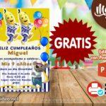 Invitación de Bananas en Pijamas para Editar GRATIS