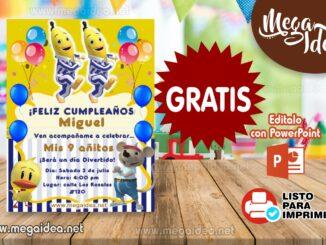 Invitacion Bananas en Pijamas MUESTRA