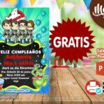 Invitación de Cazafantasma para Editar GRATIS