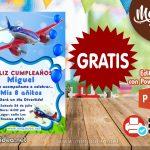 Invitación de Aviones para Editar GRATIS