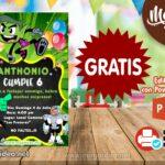 Invitación de Jóvenes Titanes para Editar GRATIS