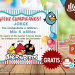 Invitación de Angry Birds para Editar GRATIS