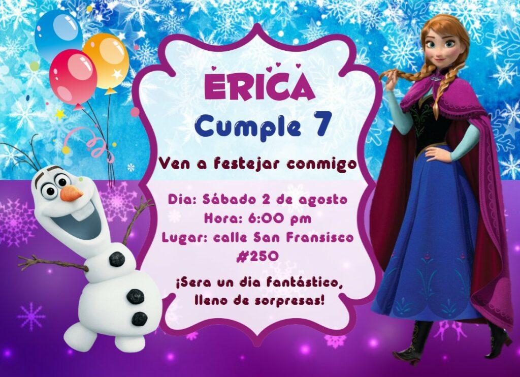 invitacion Anna Frozen