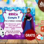 Invitaciones de Anna Frozen para Editar GRATIS