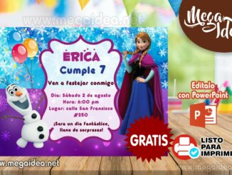 invitacion Anna Frozen muestra 1
