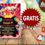 Invitación de DC Super Hero Girl para Editar GRATIS
