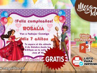 invitacion Elena de Avalor MUESTRA