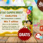 Invitación de Chavo del Ocho  para Editar GRATIS