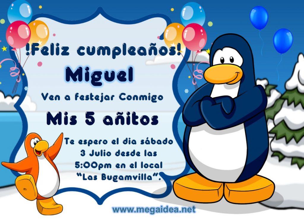 invitacion club penguin