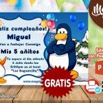 Invitación del Club Penguin para Editar GRATIS