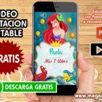 Video Invitacion de Ariel GRATIS