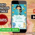 Video Invitacion de Aladdin Bebe GRATIS