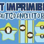 Kit Imprimible de Angelito para Bautizo Niño