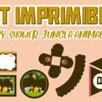 Kit Imprimible de Jungla Animalitos para Baby Shower