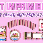 Kit Imprimible de Arca Modelo 2 para Baby Shower Niña