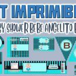 Kit Imprimible de Bebe Angelito para Baby Shower Niño