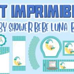 Kit Imprimible de Bebe Luna para Baby Shower Niño