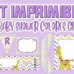 Kit Imprimible de Colores para Baby Shower Niña