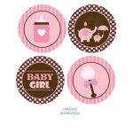 BABY SHOWER ELEFANTE BROWN PINK GIRL 05