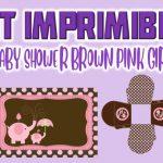Kit Imprimible de Brown y Pink para Baby Shower Niña