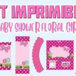 Kit Imprimible de Floral para Baby Shower Niña