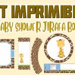 Kit Imprimible de Jirafa para Baby Shower Niño