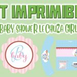 Kit Imprimible de Lechuza para Baby Shower Niña