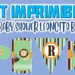 Kit Imprimible de Leoncito para Baby Shower Niño
