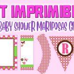 Kit Imprimible de Mariposas para Baby Shower Niña