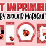 Kit Imprimible de Mariquita para Baby Shower