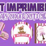 Kit Imprimible de Osito para Baby Shower Niña