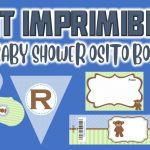 Kit Imprimible de Osito para Baby Shower Niño