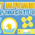 Kit Imprimible de Patito para Baby Shower Niño