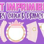 Kit Imprimible de Princess para Baby Shower