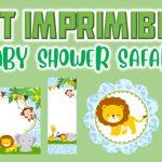 Kit Imprimible de Safari para Baby Shower