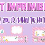 Kit Imprimible de Animalitos Modelo 2 para Baby Shower