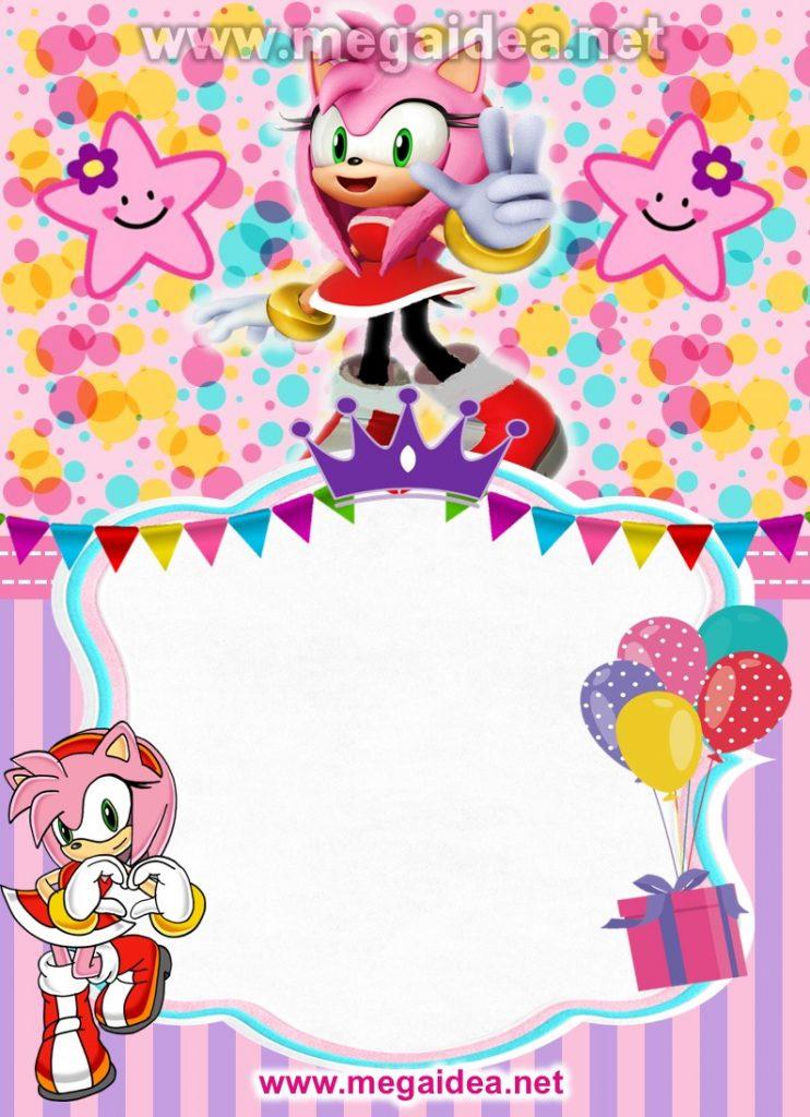 FONDO invitacion Amy Rose Sonic