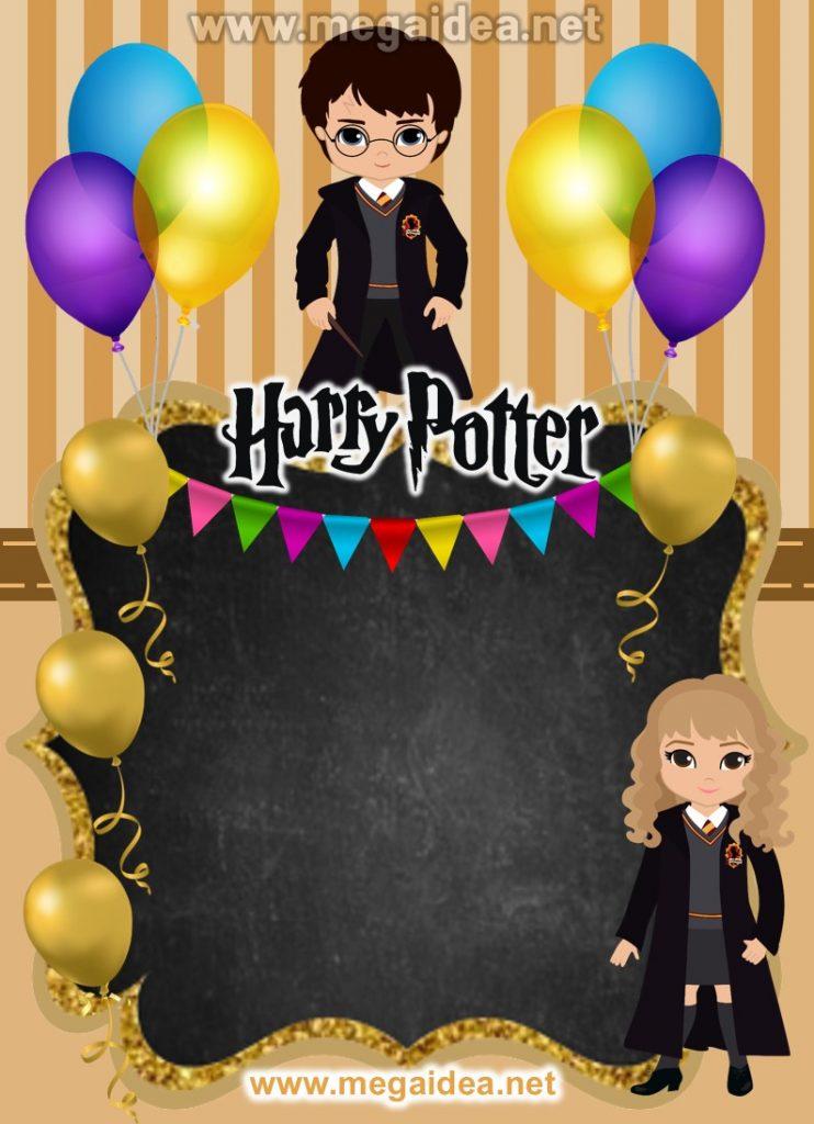 FONDO invitacion Harry Potter