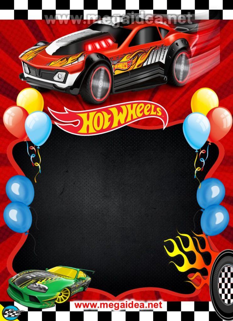 FONDO invitacion Hot Wheels