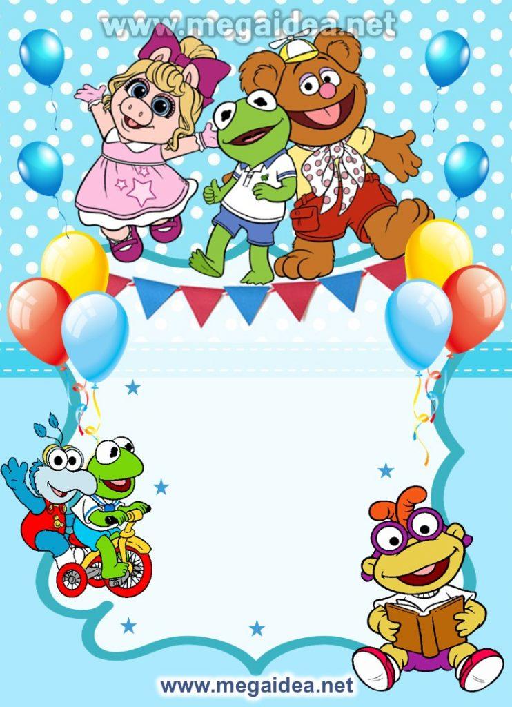 FONDO invitacion Muppets Baby