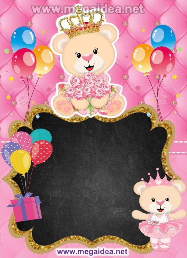 FONDO invitacion Osita Princesa