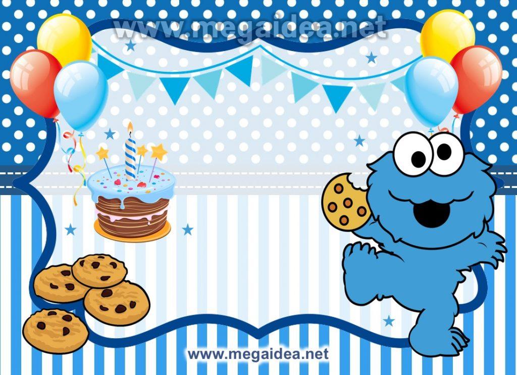 FONDO invitacion cookie monster