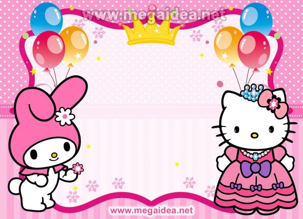 FONDO invitacion hello kitty
