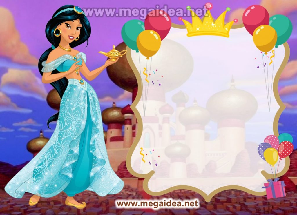 Fondo invitacion Princesa Jazmin