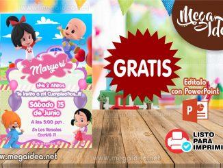 Invitacion Cleo y Cuquin Familia Telerin muestra
