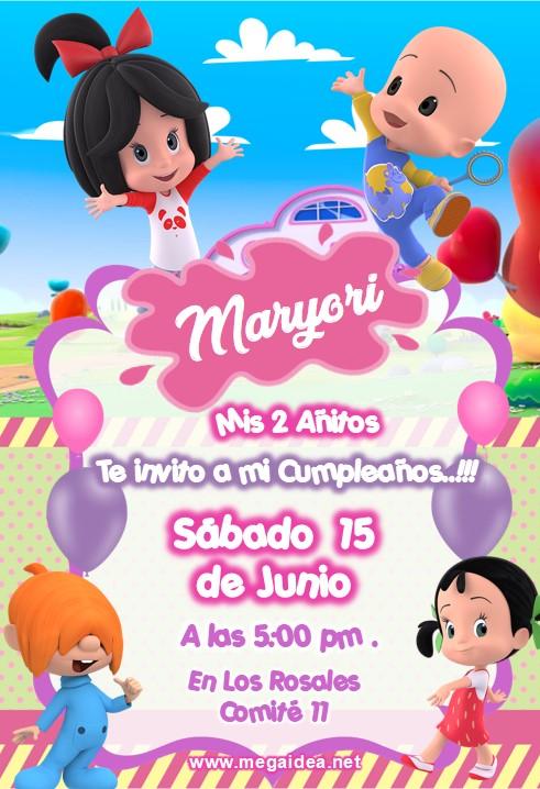 Invitacion Cleo y Cuquin Familia Telerin