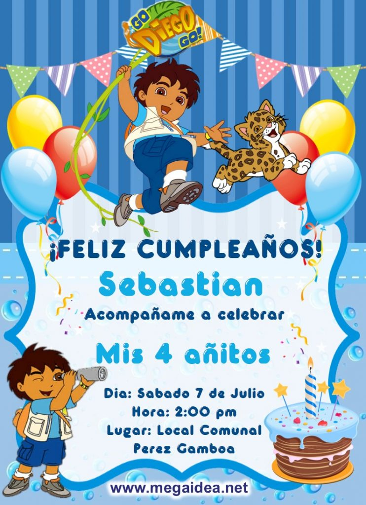 Invitacion Go Diego Go 1