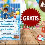 Invitación de Go Diego Go para Editar GRATIS