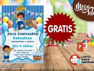 Invitacion Go Diego Go muestra