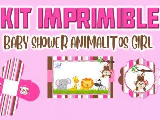 KIT BABY SHOWER ANIMALITOS GIRL